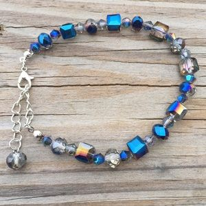 Austrian Iridescent Blue Crystal Bracelet